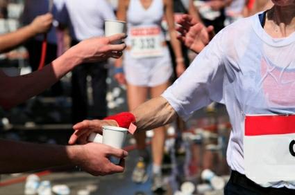 Hidratación mientras corres