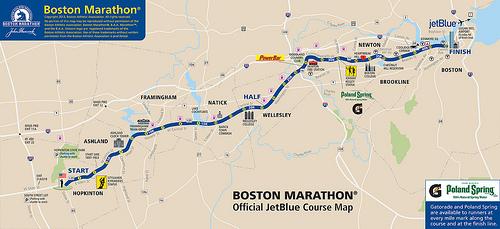 Ruta, altimetría y transmisión del Maratón de Boston 2013