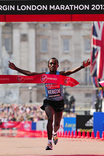 Kebede Maratón de Londres 2013