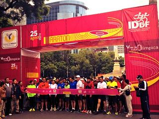 Mancera presente en el primer entrenamiento rumbo al Maratón de la Ciudad de México 2013