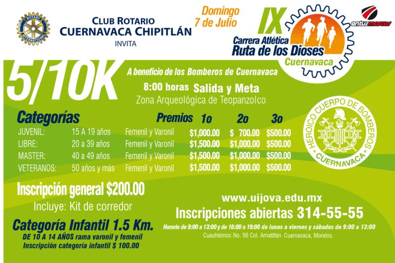 9ª Carrera Atlética Ruta de los Dioses 5K y 10K