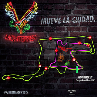 Ruta de la carrera Nike We Run Monterrey
