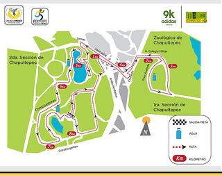 Ruta de la carrera Split 9K adidas rumbo al maratón