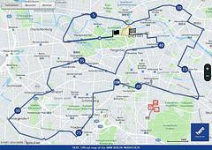 La ruta oficial del Maratón de Berlín