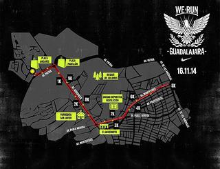 Ruta de la carrera Nike We Run Guadalajara 2014
