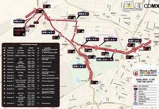 Ruta del Medio Maratón Rock 'n' Roll Ciudad de México