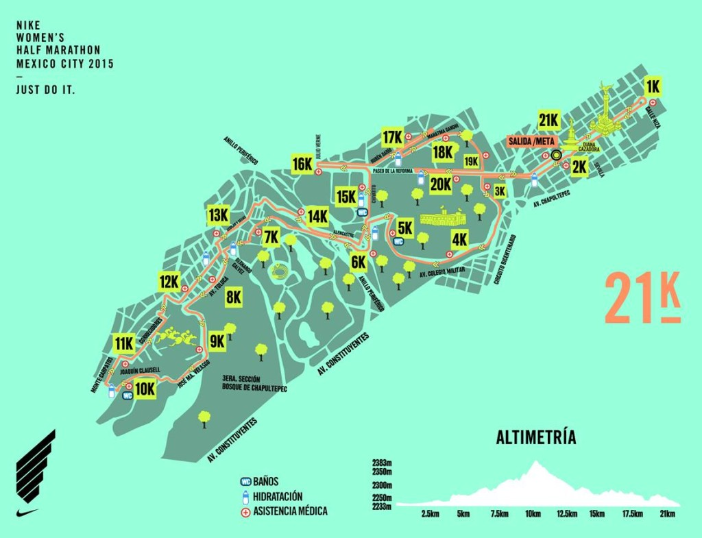 Ruta Nike Women's Half Marathon México 21K