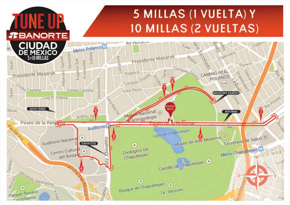 ruta tune up banorte mexico df 5 10 millas