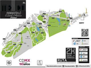 Ruta del Medio Maratón de la Ciudad de México 2015