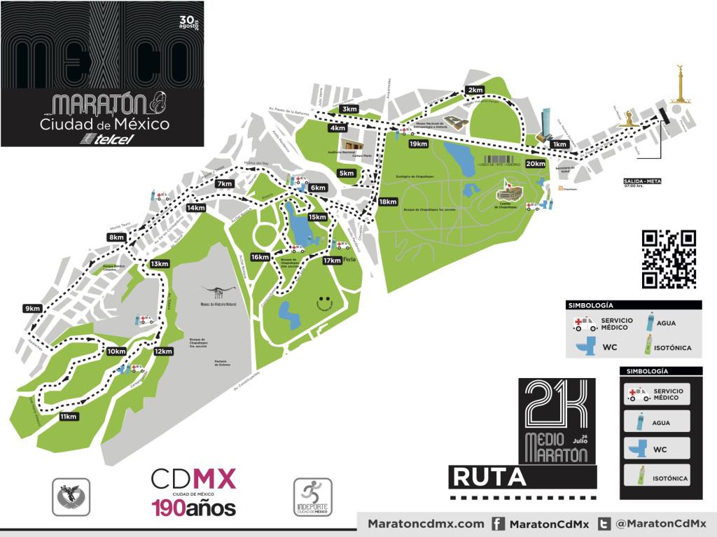 ruta medio maraton de la ciudad de mexico 2015