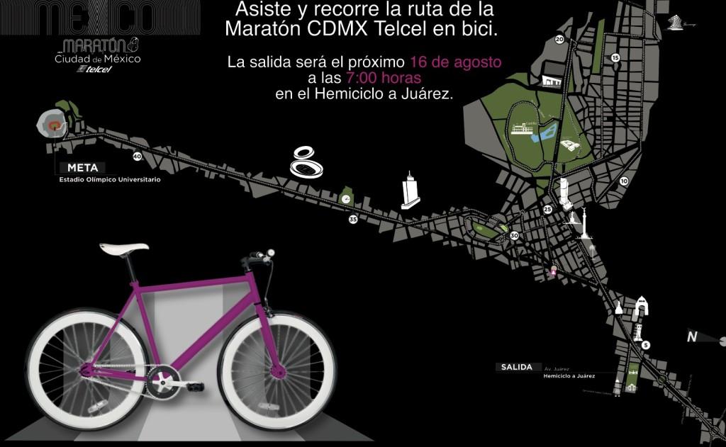 ruta maraton ciudad de mexico 2015 rodada cicloton