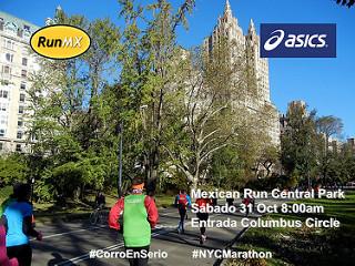 Mexican Run ASICS antes del Maratón de Nueva York