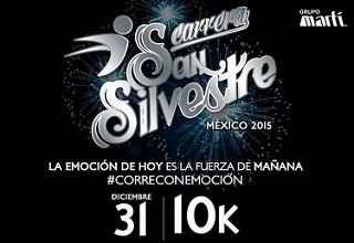 La Carrera San Silvestre 2015 en la Ciudad de México