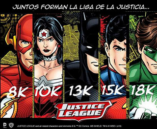 carreras liga de la justicia batman superman wonderwoman