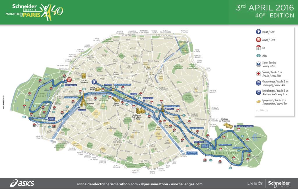 ruta maraton de paris 2016