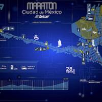 La ruta del Maratón de la Ciudad de México 2016