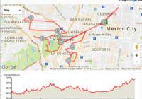 mapa ruta maraton ciudad de mexico 2016 altimetria
