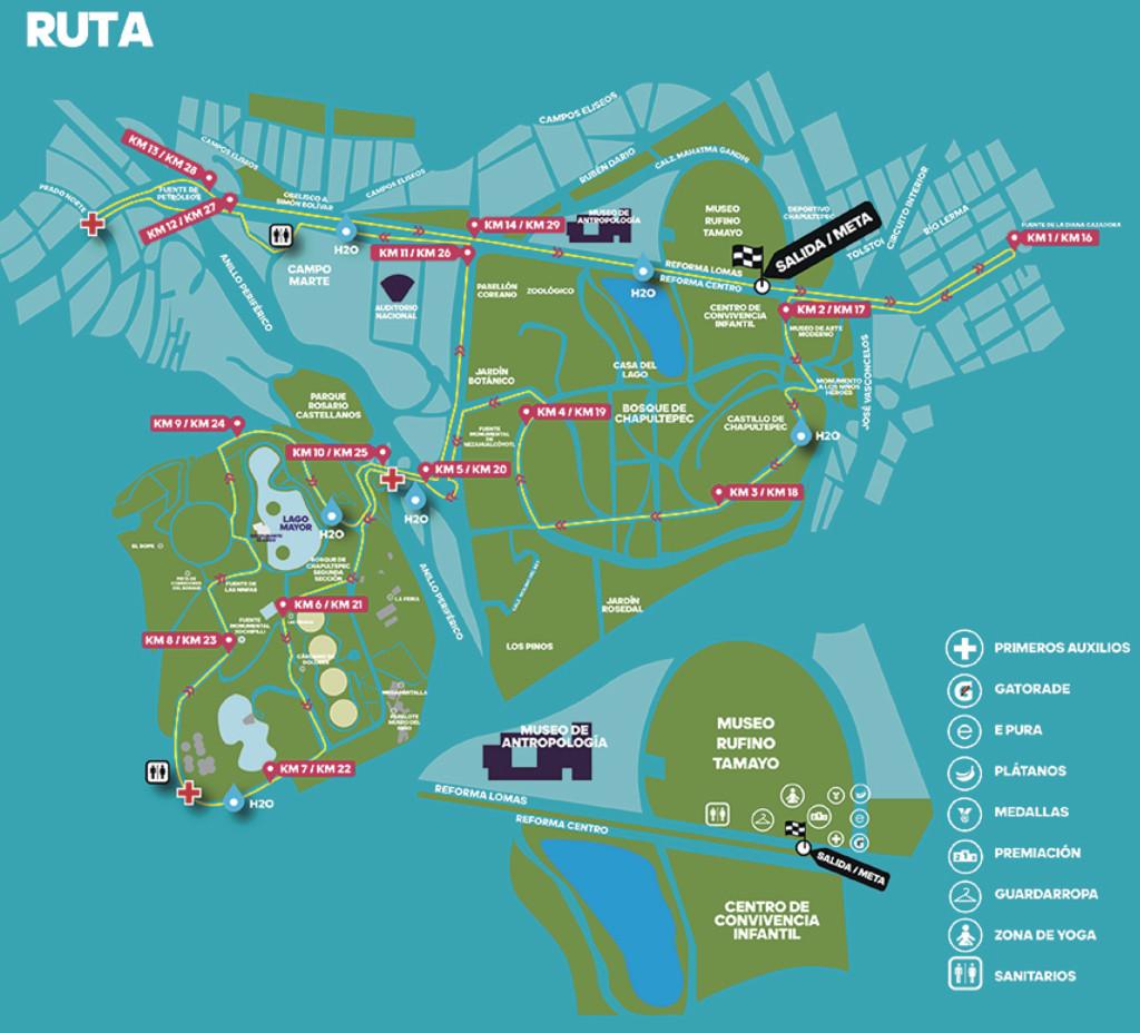 ruta del split adidas 30K ciudad de mexico