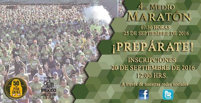4to Medio Maratón SEDENA La Gran Fuerza de México 2016