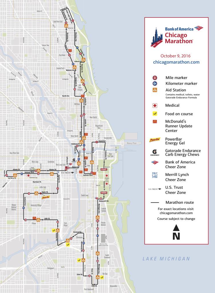 ruta del maraton de chicago marathon