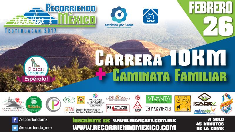 Recorriendo México Carrera Teotihuacan 10K