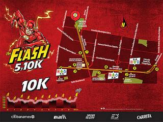carrera the flash emocion deportiva 2017 5k 10K rutas entrega de paquetes