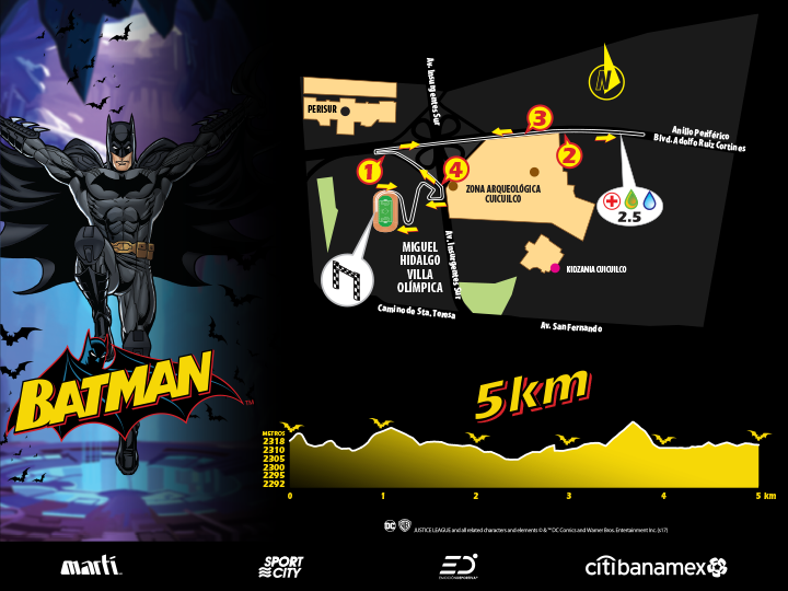 carrera Batman 2017 ruta 5K