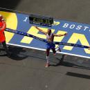 Atletas elite en el Maratón de Boston 2017