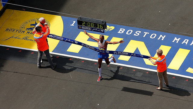 atletas elite en el maraton de boston 2017