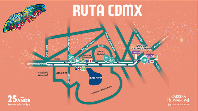 ruta carrera bonafont 2017 ciudad de mexico guadalajara monterrey puebla queretaro entrega de paquetes