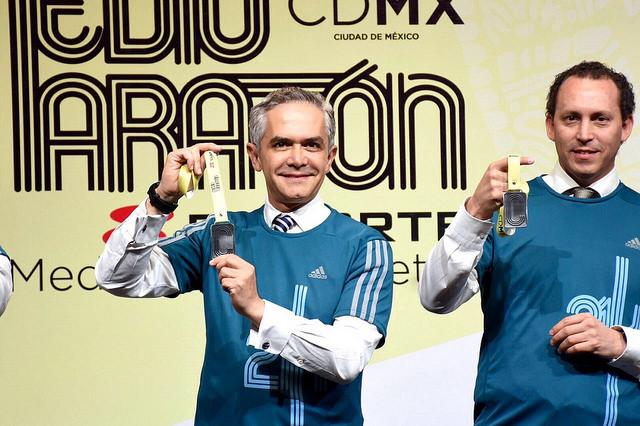 playera medalla del medio maraton de la ciudad de mexico 21k cdmx