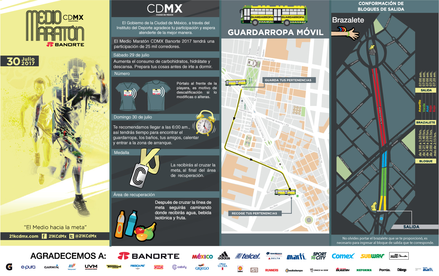 pasaporte informativo 21k cdmx medio maraton ciudad de mexico