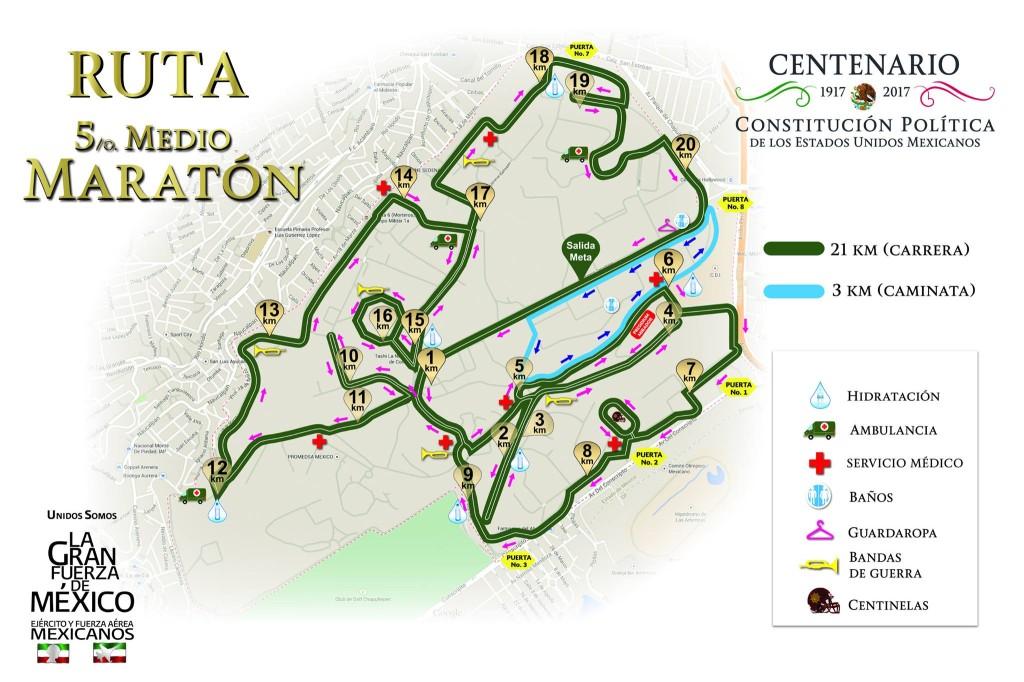 ruta medio maraton sedena
