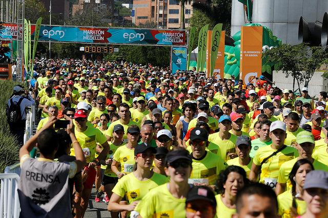 Maraton de las flores Medellín premio aims 2017
