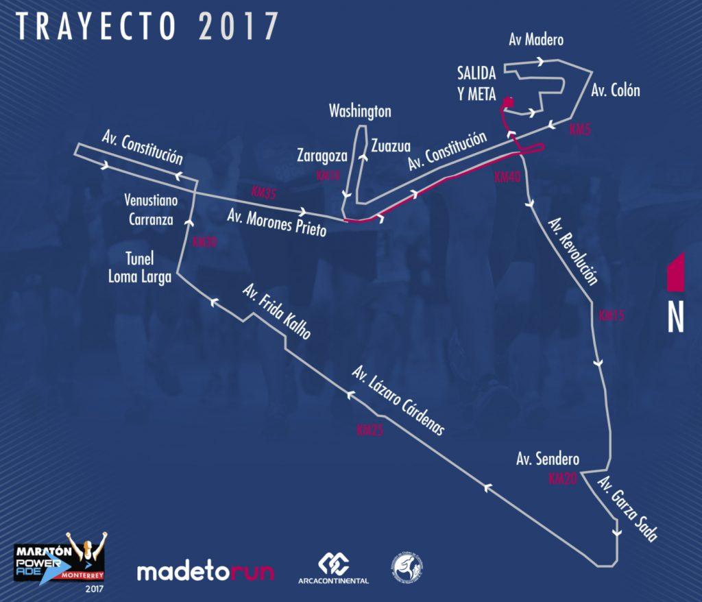 ruta maraton powerade monterrey 2017