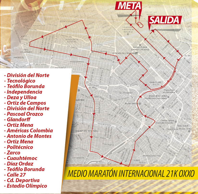 ruta 21k oxxo chihuahua 2018