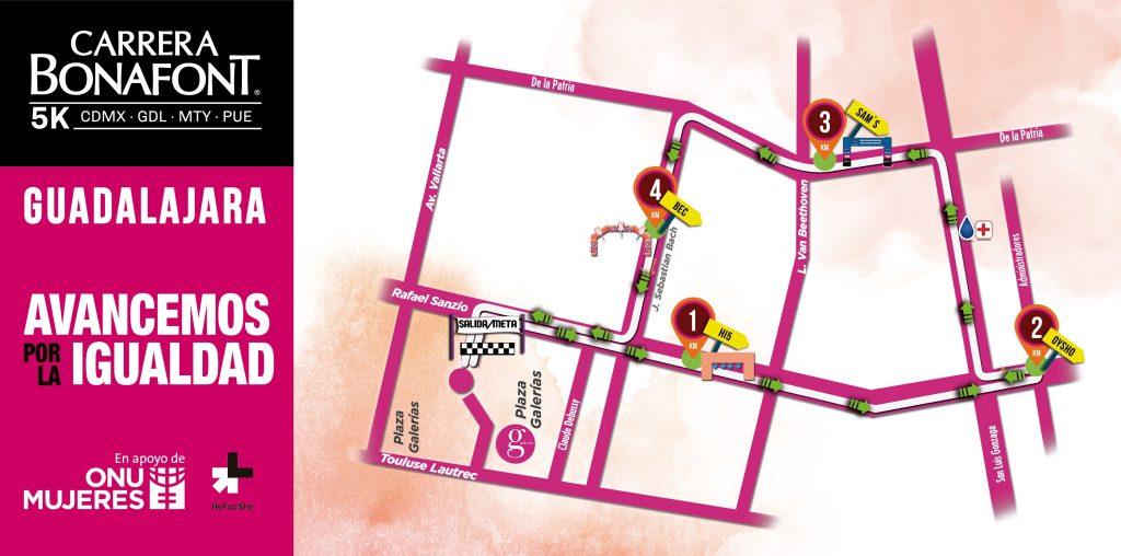ruta carrera bonafont 2018 guadalajara