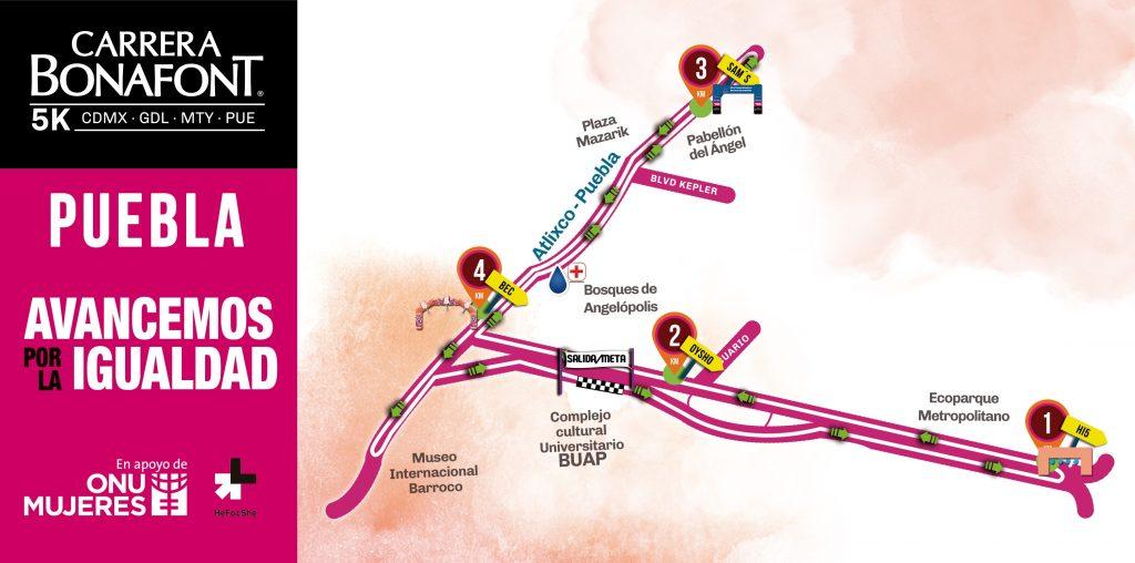 ruta carrera bonafont 2018 puebla