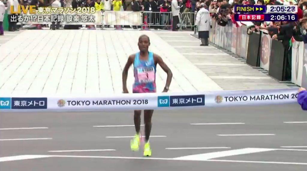 chumba maraton tokio resultados