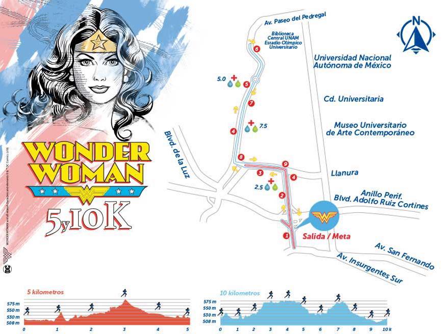 ruta de la carrera wonder woman 2018
