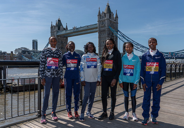 atletas elite maraton londres 2018