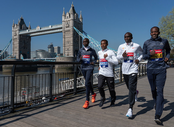 atletas elite maraton de londres 2018
