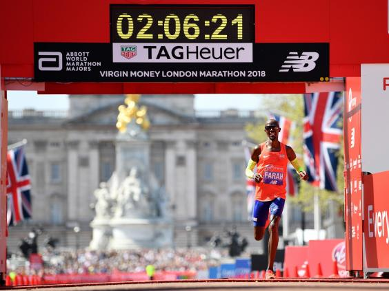 mo farah maraton londres 2018