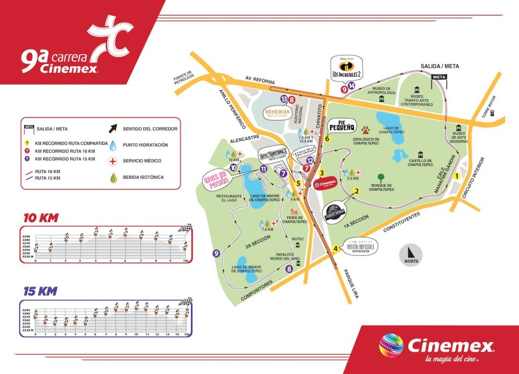 ruta carrera cinemex 2018
