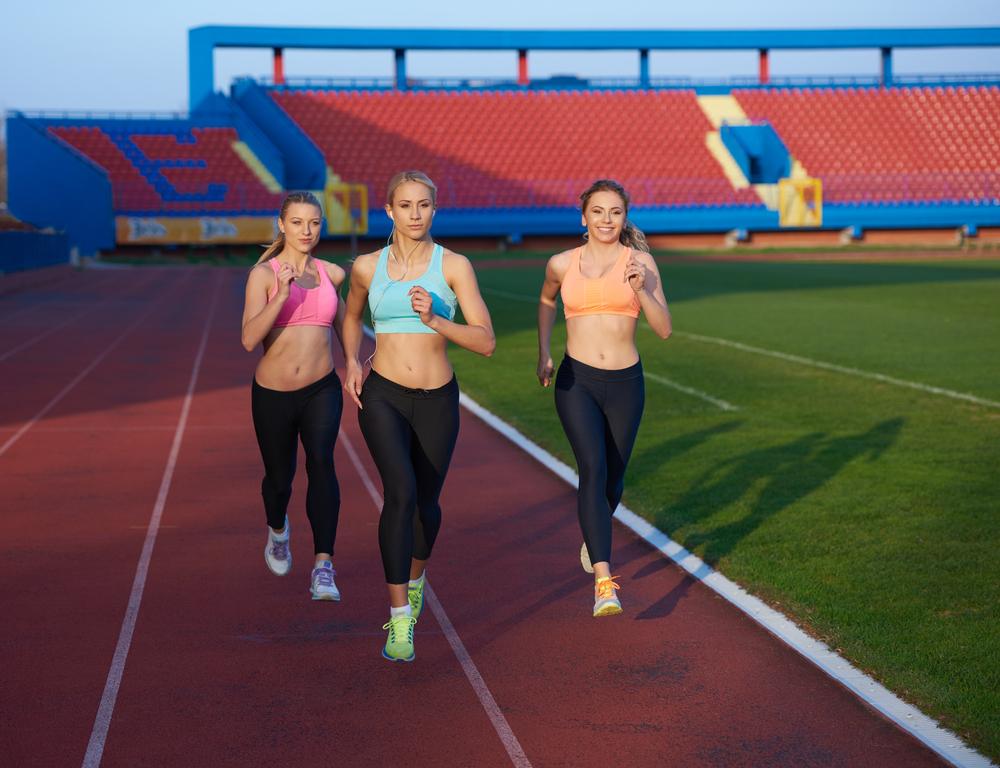 corredoras corredora cuestas entrenamiento velocidad pista repeticiones