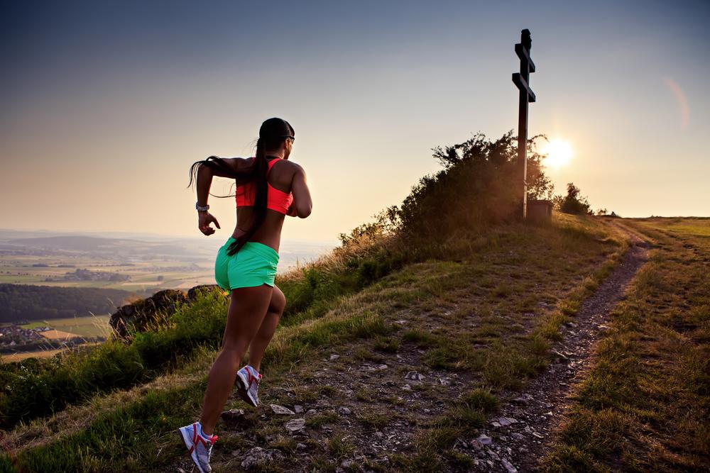 corredora cuestas entrenamiento