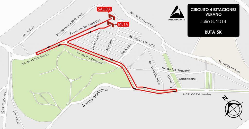 ruta circuito estaciones verano arboledas