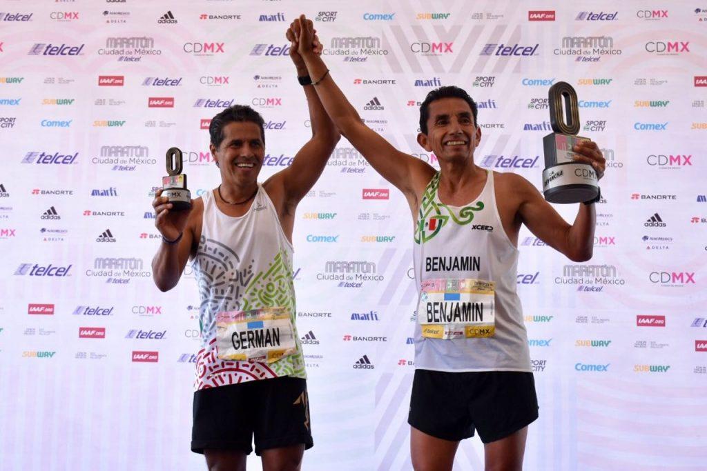 Benjamin Paredes German Silva La Revancha Maraton Ciudad de México