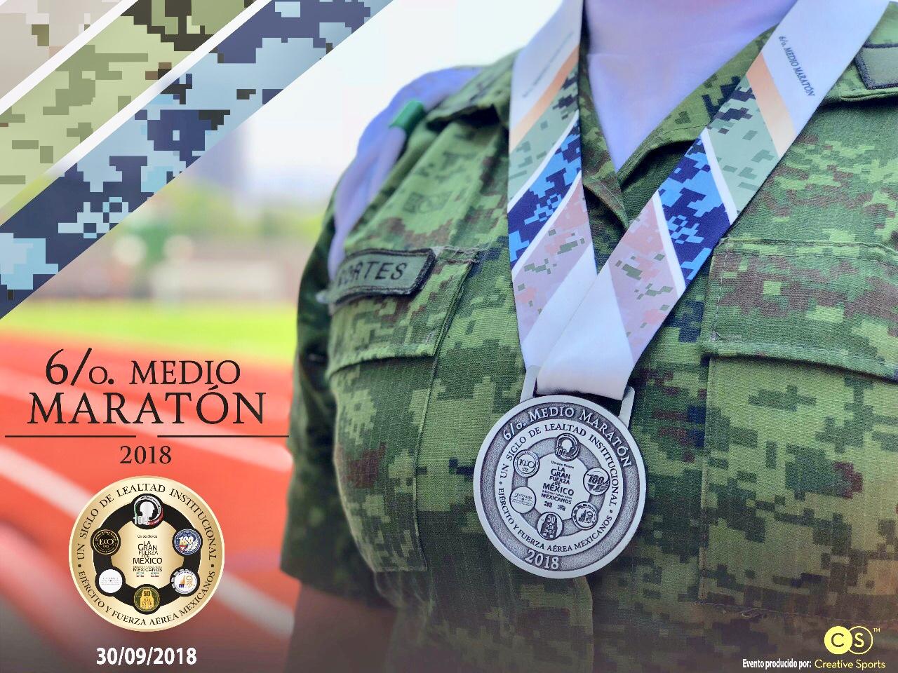 medalla medio maraton sedena 2018 inscripciones carrera gratuita