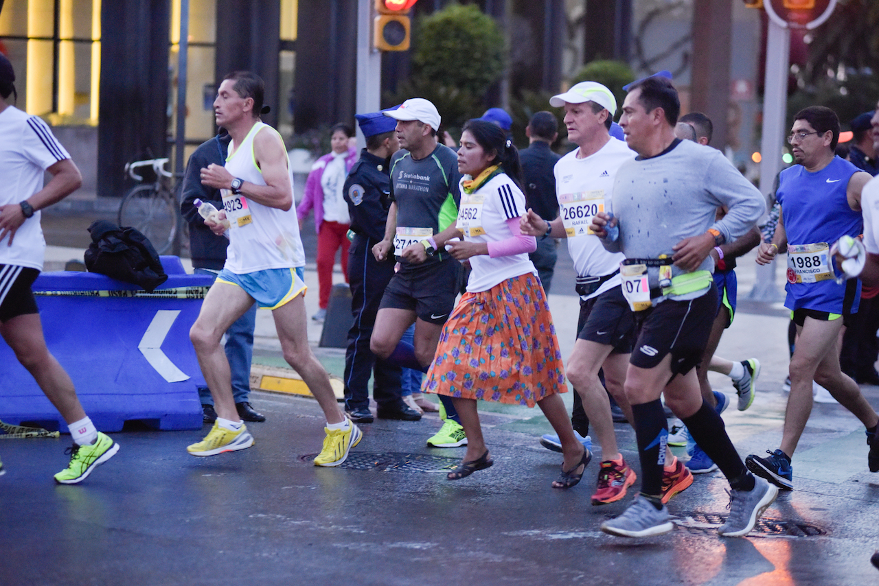 Lorena Ramirez tarahumara Maraton Ciudad de Mexico CDMX 2018